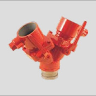"""2 65mm dividing breeching with ball valve control dc711 - 2 ½"""" (65mm) Dividing Breeching with Ball Valve Control DC711"""