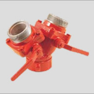 """2 65mm dividing breeching with ball valve control dc712 - 2 ½"""" (65mm) Dividing Breeching with Ball Valve Control DC712"""
