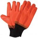 Orange PVC Foam Freezer Glove