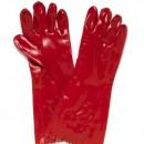 Red PVC Single Dip Glove 40cm