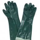 "Green PVC Double Dip Glove ""Jersey Lined"" 45cm"