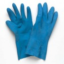 """Ultra Touch"" Blue Flocklined Rubber Glove"