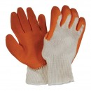 White Knitted Gripper Glove