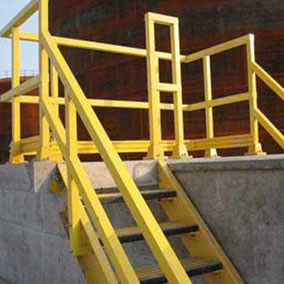 Hand Rails Square Tube 284 - FRP STAIR TREADS AND HANDRAIL SYSTEM
