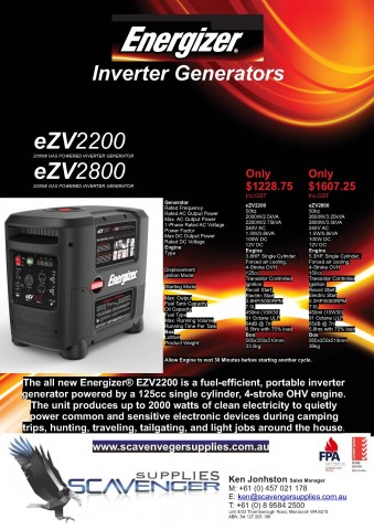 energizer inverter generators - Energizer Inverter Generators