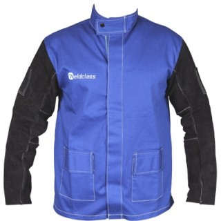FR Jackets PROMAX Blue (Proban Style) w/Leather Sleeves