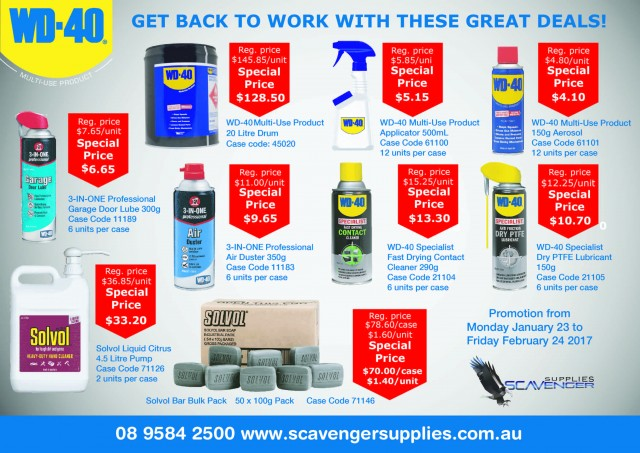 wd40 back to work specials - WD40 Back to Work Specials to 24 February 2017