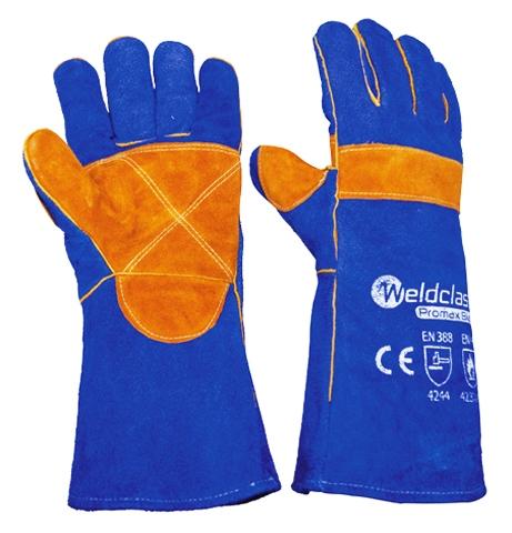 wc 0177x promax blue welding gloves - Welding Gloves
