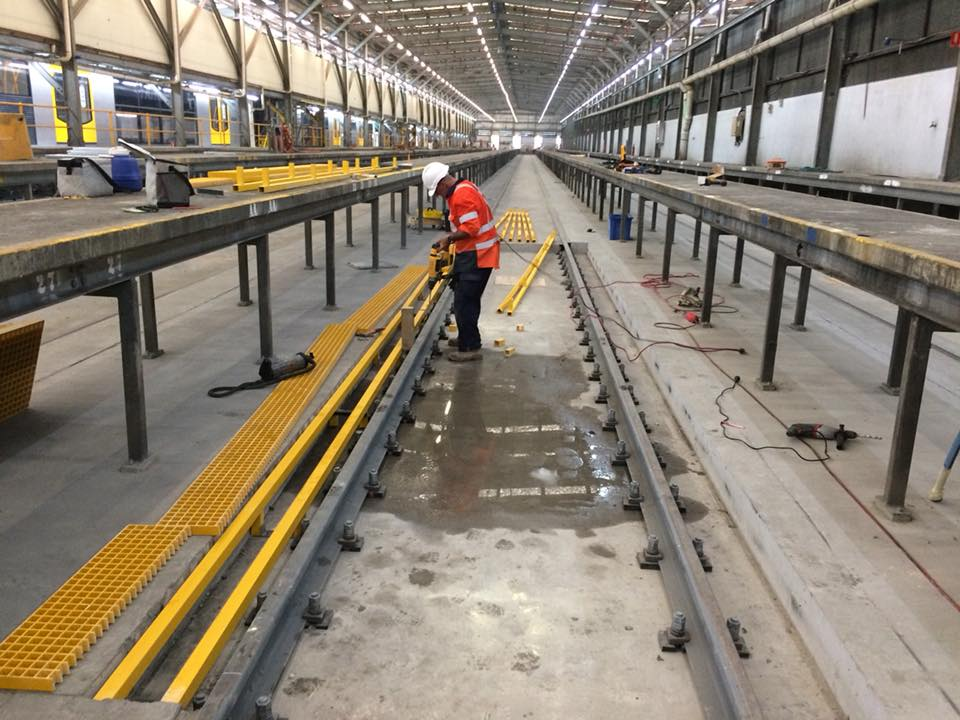 Our Project Team were installing the FRP Grating