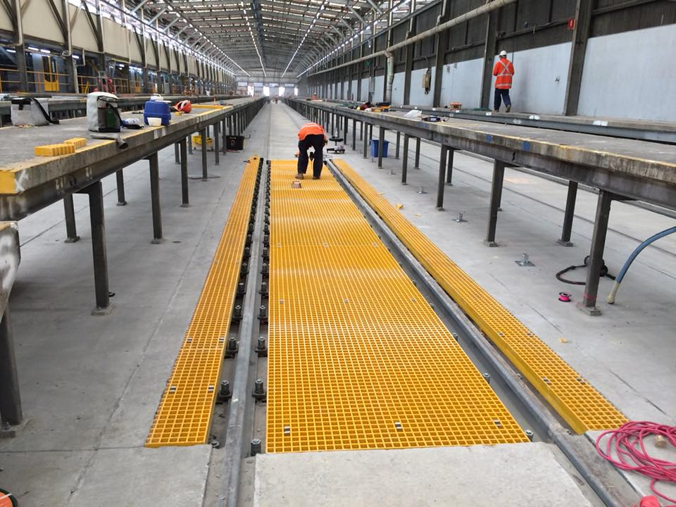 26238846 1668887136511312 2401736886601245366 n - Fibreglass Reinforced Polymer (FRP) Grating Project at Sydney Train Service Yard