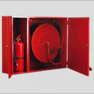 Recessed Hose Reel Cabinet With Extinguisher